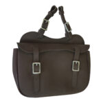 Eureka – Synthetic Single Saddle Bag – Brown