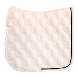 Showcraft – Chester Dressage Cloth – White/Black Piping