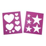 Eureka – Heart & Star Stencil