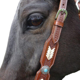 Navaho – Commanche Western Bridle & Breastplate Set