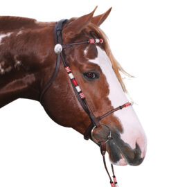 Navaho – Rolled Snaffle Cavesson Bridle